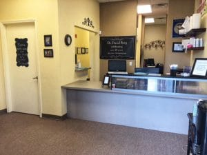 Chiropractic Reno NV Receptionist Area